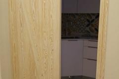 puerta corredera madera natural